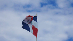 dominican flag in the sky Footage
