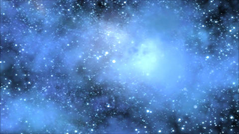 Space Travel through Star Field/Nebula - Loop Blue Animation