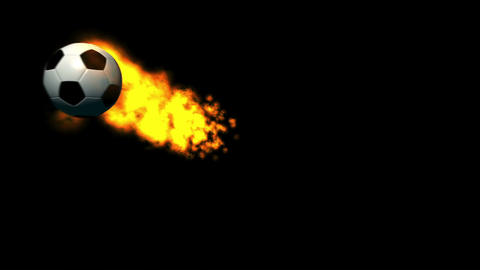 Fiery Soccer Ball Animation