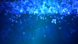 Abstract Triangle Background Animation - Loop Blue Animation