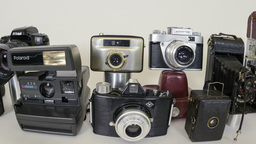 evolution of the photo camera fisheye 11348 Footage