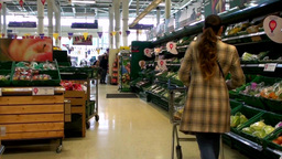 Supermarket stock footage