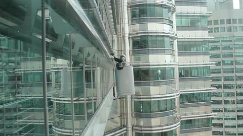 Repairman on a skyscraper Footage