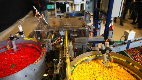 Production of Lego bricks - the famous danish toy Live Action