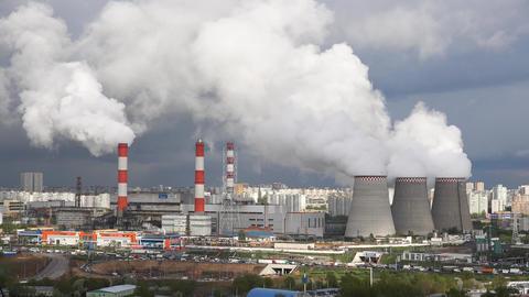 4k energy plant Footage