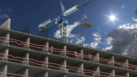 Building Area Concept stock footage
