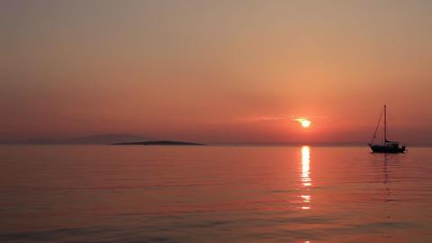 Sunset Sailboat 2 Footage