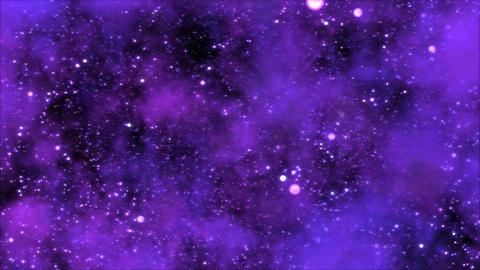 Space Travel through Star Field/Nebula - Loop Purp Animation