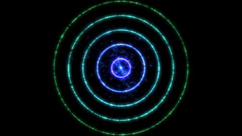 Abstract Colorful Circle Animation - Loop Rainbow Animation