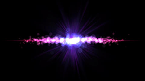 Abstract Particle Light Animation - Loop Purple Animation