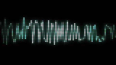audio wave line black pixel style Animation