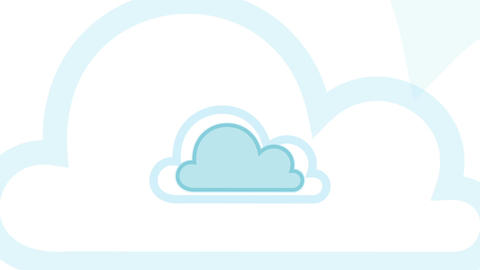 Pulsing Cloud Computing Cloud Concept Animation