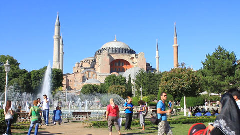 Hagia Sophia Visitors Footage