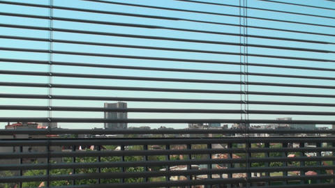 Downtown View Beneath The Blinds, Office, Building Footage