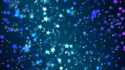 Star Particle Background - Loop Blue Animation