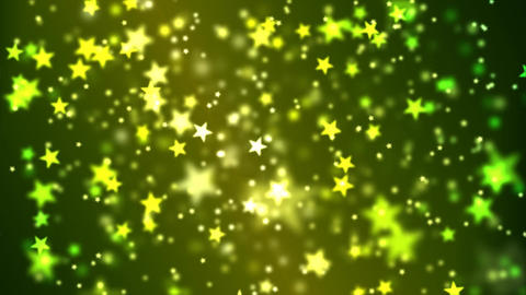 Star Particle Background - Loop Yellow Green Animation