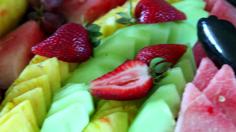 Fruit Pan stock footage