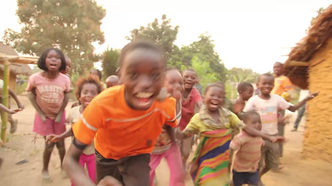 group of kids happy_Bwe, Democratic Republic of Co Footage