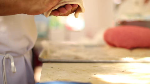 Making Naan Bread stock footage