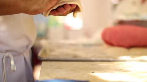 making Naan bread Footage