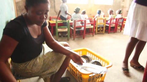 Haiti school lunch Footage