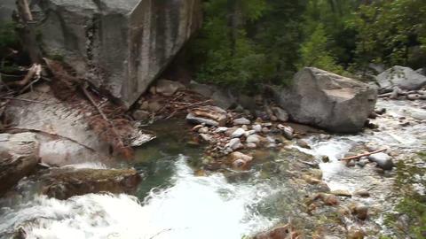 Mountain stream pan Footage