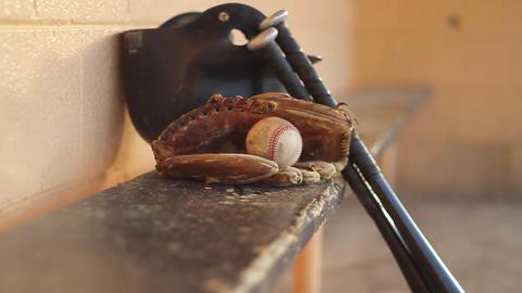 Baseball bats dolly shot Footage