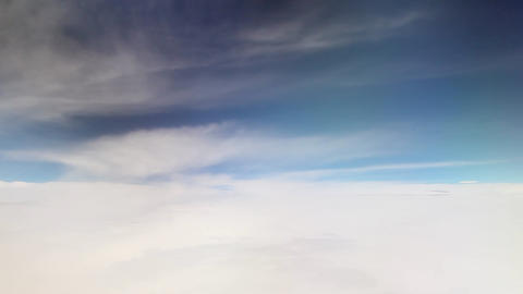 Clouds from airplane window Live Action