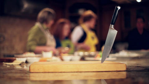 Cooking class and knife 2 Footage