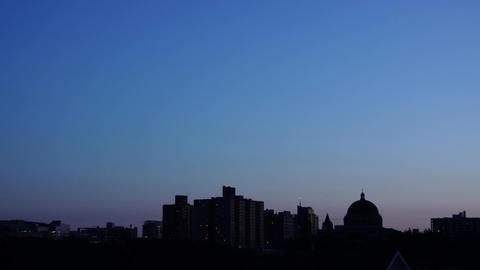 City Skyline night wide Footage