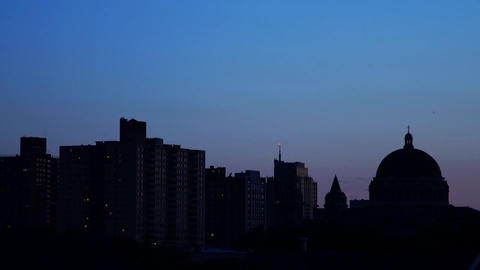 City Skyline Night stock footage