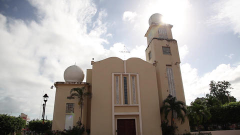 Church Dominican Republic stock footage
