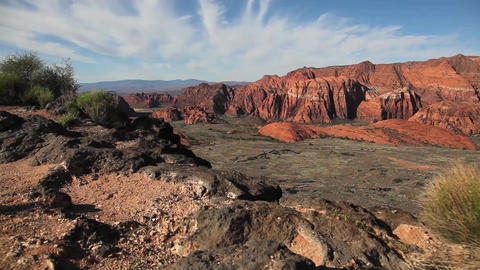 Desert Canyon View Dolly Shot stock footage