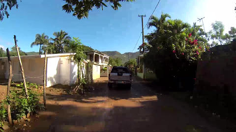 Driving Rural Dominican Republic stock footage