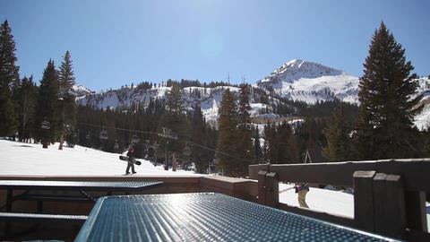 Ski lunch area Footage
