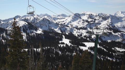 Ski lift no people Footage
