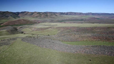 Rolling hills helicopter shot Footage