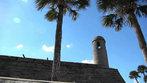 St. Augustine fort detail Footage