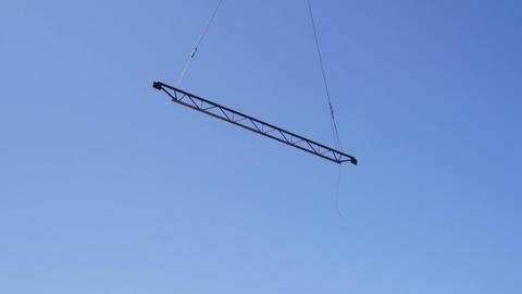 Steel beam lift sky Live Action
