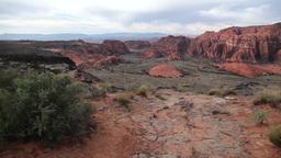 Desert canyon jib shot 2 Footage
