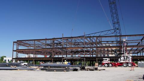 Steel beam lift Footage