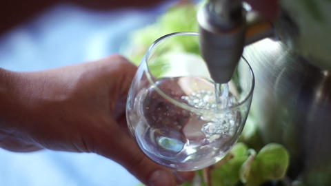 Water glass super slow motion Footage