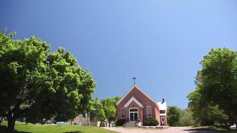 Tilt to small church Footage
