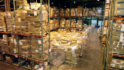 Warehouse Pan stock footage
