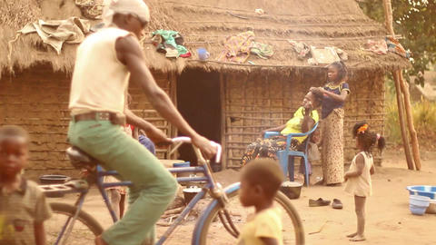 Village life DR Congo_Bwe, Democratic Republic of  Footage