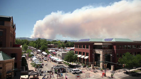 Wildfire over Fort Collins Colorado Footage