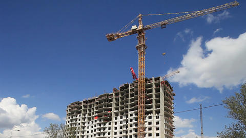 tower crane time lapse Footage