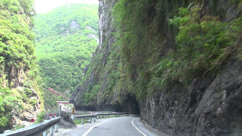 the mountain road of Taroko National Park. Taiwan. Footage
