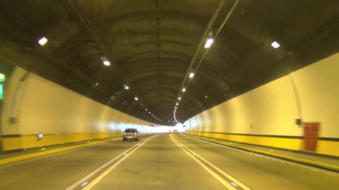 driving fast in the tunnel time lapse Footage