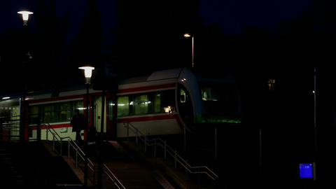 Passengers Of Nightly Train stock footage